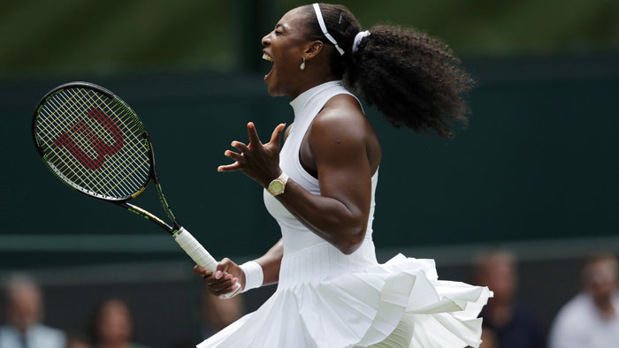 Serena Williamsová na Wimbledone.
