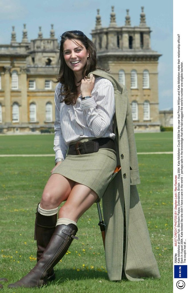 Kate Middleton z roku 2004.