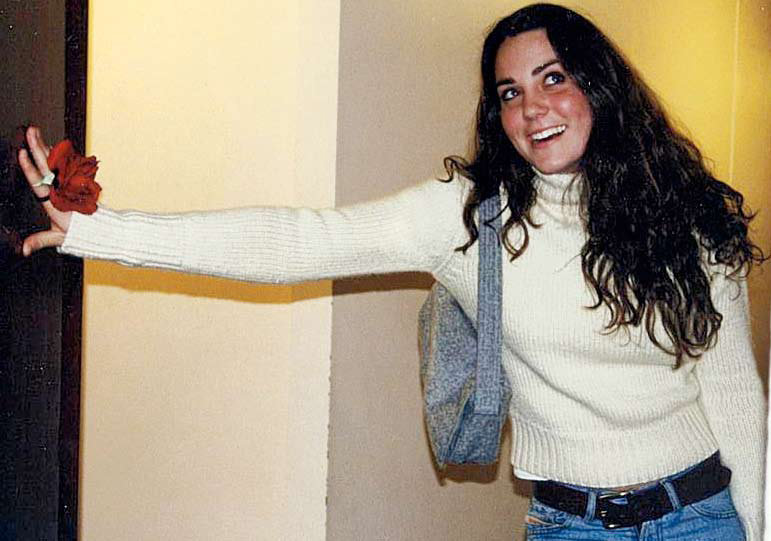 Kate Middleton z roku 2001.