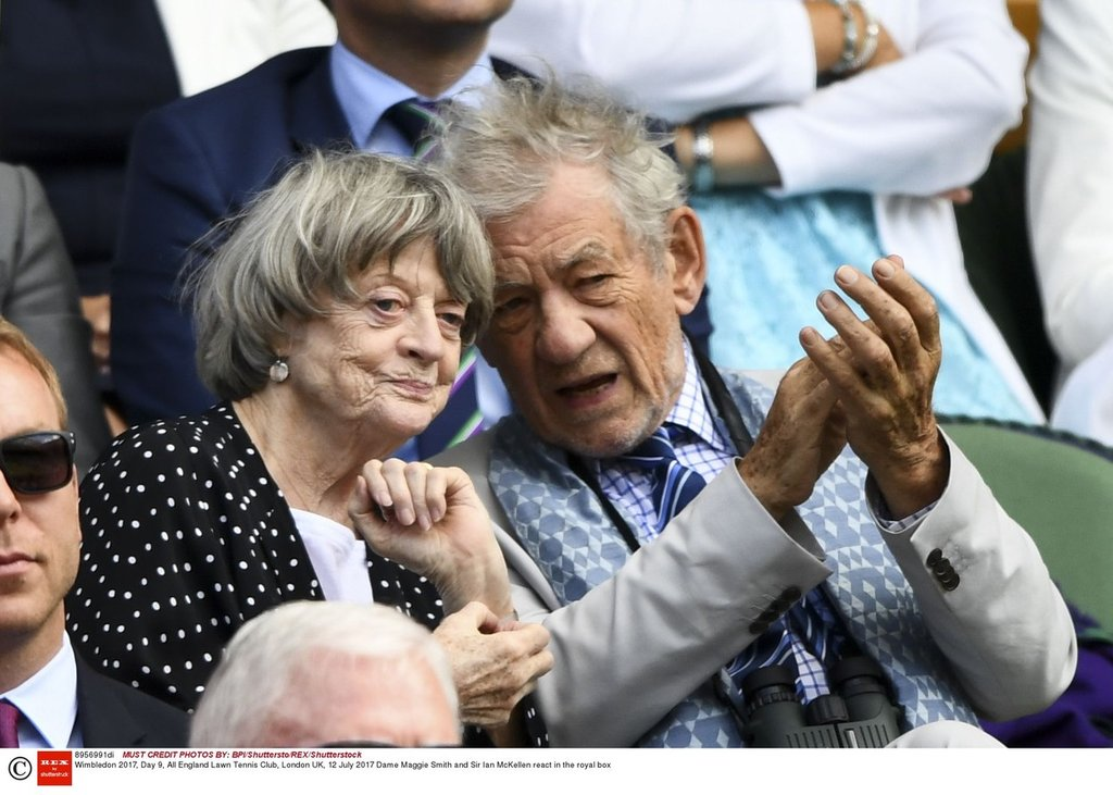 Maggie Smith a Sir Ian McKellen