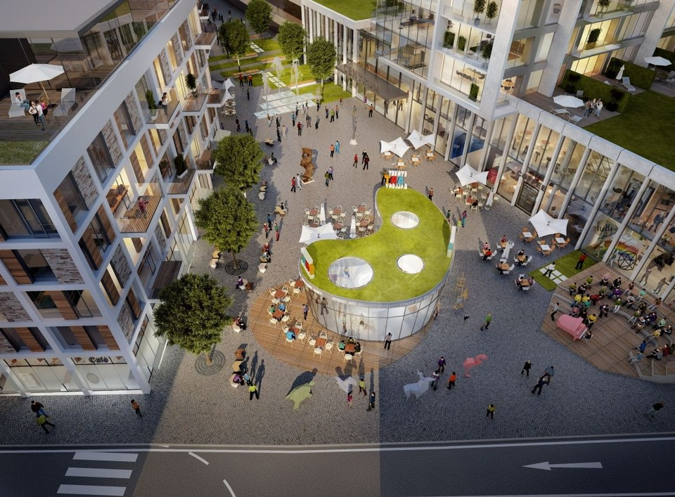 Visualization of the reconstructed stone square in Bratislava