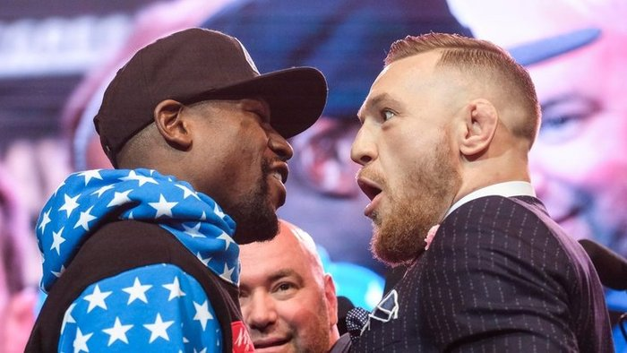 Floyd Mayweather a Connor McGregor.