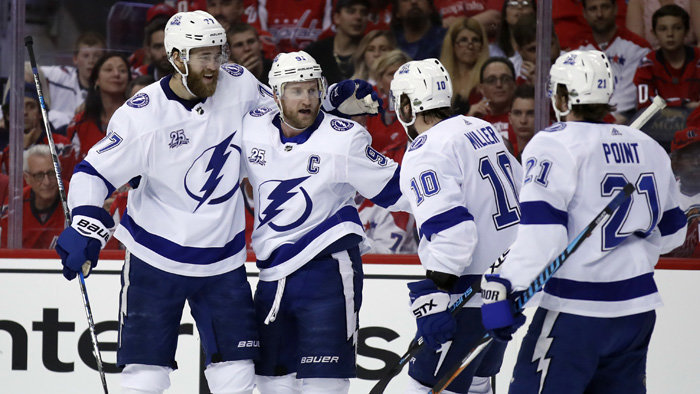 Hokejisti Tampy Bay Lightning uspeli na ľade Washingtonu Capitals 4:2.