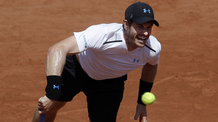 Andy Murray na Roland Garros.